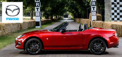 Excitement is the highlight of the 2015 Mazda MX-5 Miata and Joliet, Ill. drivers will enjoy the top down experience of getting behind the wheel of the 2015 Mazda Miata. (PRNewsFoto/Bill Jacobs Auto Group)