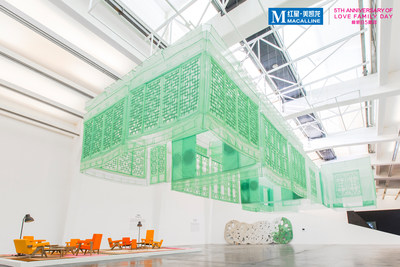 "Do Ho Suh,""Seoul Home"", 2012, Silk, metal structure, 1457 X 717 x 391 cms"