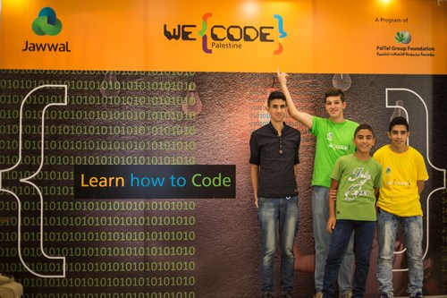 """PalTel Group Launched """"Code for Palestine"""" Program which aims to provide Palestinian students with a Smarter Future (PRNewsFoto/PalTel Group) (PRNewsFoto/PalTel Group)"""
