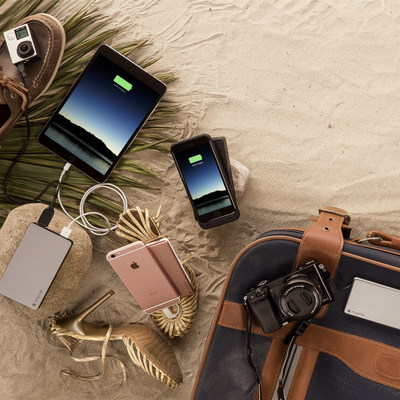 mophie charge force powerstation, mophie powerstation USB-C, powerstation plus (with integrated switch tip cables), and 2016 powerstation family