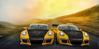 EnergyCasino Launches Major Sponsorship Deal with Team Jocke Mangs at the Porsche Carrera Cup - Scandinavia (PRNewsFoto/EnergyCasino)