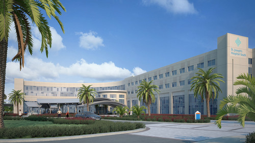 St. Joseph's Hospital-South is set to open in 2015 in Riverview, Florida.  (PRNewsFoto/BayCare Health ...