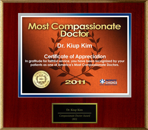 Dr. Kiup Alex Kim of Chandler, AZ is Honored as a Compassionate Doctor