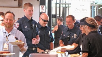 First responders enjoyed the free event, sponsored in part by Mike Manclark of the MANGIC Foundation.