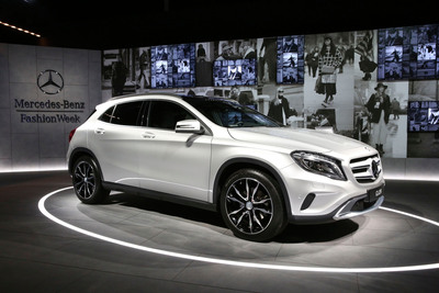 GLA-CLASS STRUTS ITS STREET STYLE AT MERCEDES-BENZ FASHION WEEK.  (PRNewsFoto/Mercedes-Benz USA)