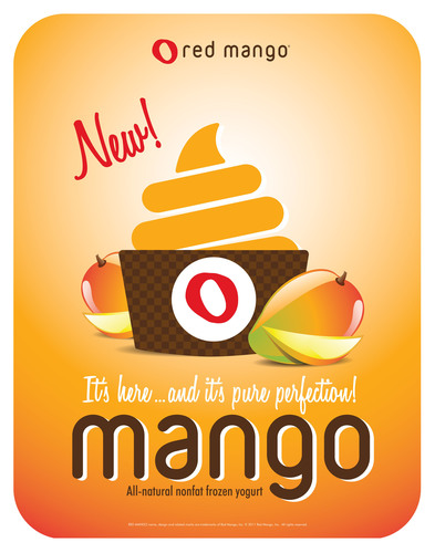 Red Mango Introduces Mango Flavored Frozen Yogurt.  (PRNewsFoto/Red Mango)