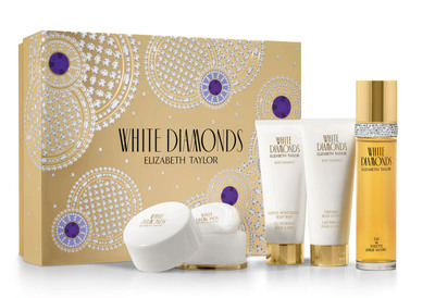 White Diamonds Elizabeth Taylor Mother's Day Gift Set.  (PRNewsFoto/House of Taylor)