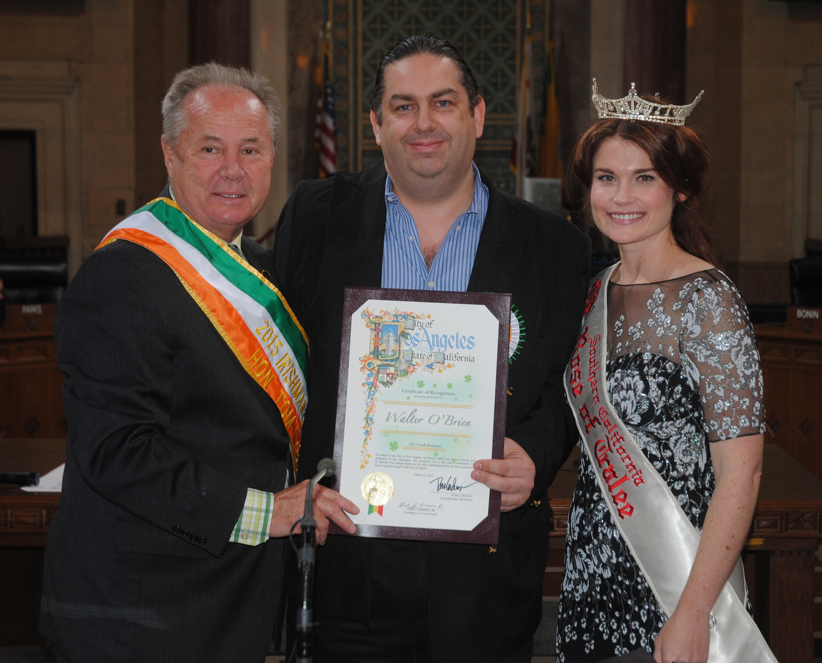 Walter O'Brien Nominated Los Angeles 'Irishman of the Year' 2015