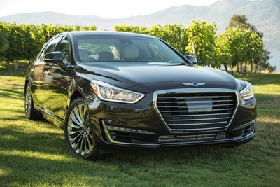 The all-new Genesis G90 luxury sedan was named one of three finalists for the prestigious 2017 North American Car of the Year award.