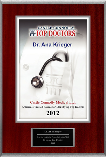Dr. Ana Krieger is recognized by Castle Connolly as one of the Regional Top Doctors® in Pulmonary