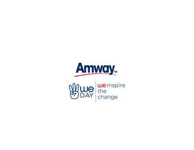 Amway/We Day Logo Lockup.  (PRNewsFoto/Amway North America)