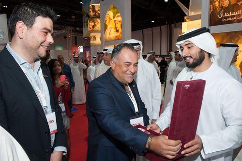 His Highness Sheikh Majid becomes an ICFLIX Lifelong Member (PRNewsFoto/ICFLIX Media FZ LLC)