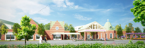 Front entrance image rendering - Madonna Rehabilitation Center(PRNewsFoto/Madonna Rehabilitation Hospital) (PRNewsFoto/MADONNA REHABILITATION HOSPITAL)