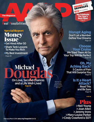 Michael Douglas AARP The Magazine Cover
