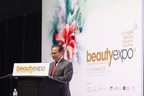 YBhg. Dato' Dzulkifli Mahmud, CEO of Malaysia External Trade Development Corporation (MATRADE) delivers his welcome speech at the Opening Ceremony of beautyexpo 2015