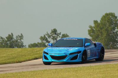 Acura NSX Prototype to Break Cover at Mid-Ohio Raceway Prior to Honda Indy 200 IndyCar Race.  (PRNewsFoto/Acura)