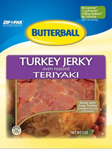 Butterball Teriyaki Turkey Jerky.  (PRNewsFoto/Monogram Food Solutions LLC)