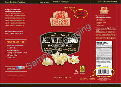 Sample Recalled Package Labeling.  (PRNewsFoto/Dale and Thomas Popcorn)