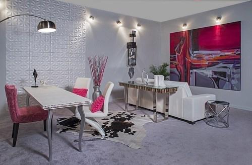 Viviana Malave Designed A Modern, Feminine Living Room At The Miami Home  Show (PRNewsFoto