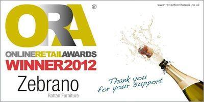 Zebrano Rattan wins online retail award