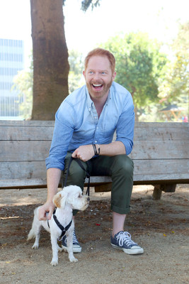 Television star Jesse Tyler Ferguson partnered with Purina ONE and Petfinder to adopt his new dog, Fennel, on Sat., Aug. 8, 2015, in Los Angeles. Ferguson recently took the Purina ONE 28 Day Challenge, learn more at www.PurinaONE.com/MakeONEDifference. (Photo by Casey Rodgers/Invision for Purina ONE/AP Images)