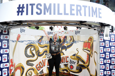 Elle King celebrates with fans and games at the Miller Lite Beer Hall, created by MAC Presents, at Governor's Ball on Friday, June 3, 2016 in New York City. Photo Source: MAC Presents