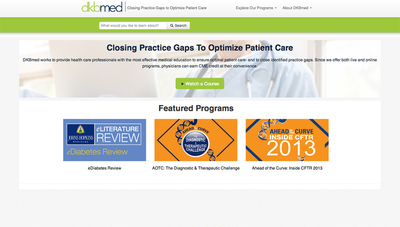 DKBmed works to provide health care professionals with the most effective medical education to ensure optimal patient care- and to close identified practice gaps. Since we offer both live and online programs, physicians can earn CME credit at their convenience. (PRNewsFoto/DKBmed)