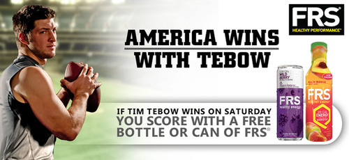 FRS® Healthy Performance™ Announces 'America Wins With Tebow' Promotion