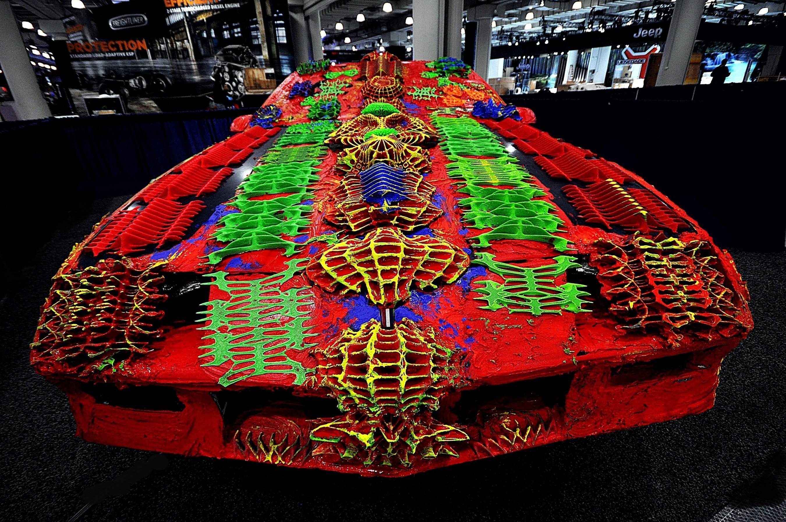 3D Printed Camaro Art Car pigment fused deposition transfer