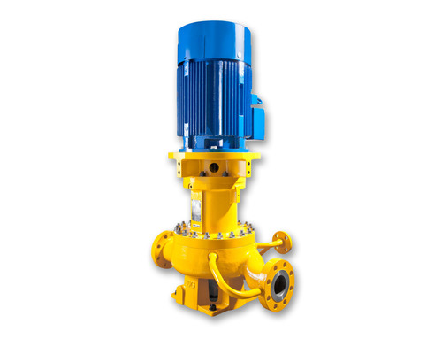 The vertically mounted General Service Pump Vertical (GSPV) inline centrifugal pump combines Sundyne API 685 ...