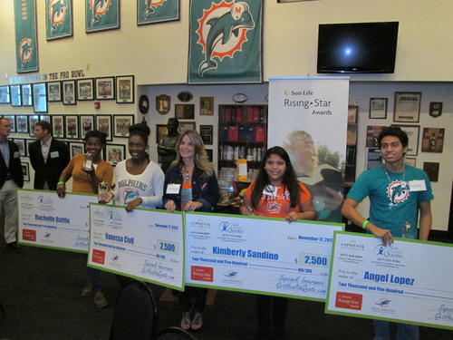 Rachel A. Sapoznik provides deserving students with an additional $2,500 scholarship each at Sun Life Financial  ...