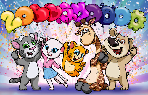 Two Billion Downloads and Feature Film Set For Wildly Popular 'Talking Tom and Friends' Brand. Talking Tom and Friends is a rare global brand that, in just four years, grew from an instant app success into a fully-fledged media entertainment franchise. With a movie in production and a CGI animated series soon to debut, a global licensing and merchandising program and a chart-topping sensation on YouTube, the lovable 3D animated characters have skyrocketed in popularity with fans across the world and sit firmly at the forefront of the digital entertainment era. (PRNewsFoto/Outfit7 Limited)