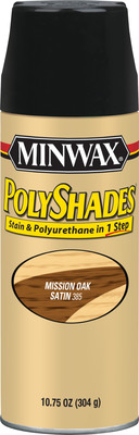 New Minwax(R) PolyShades(R) Aerosol One-Step Stain & Polyurethane.  (PRNewsFoto/The Minwax Company)