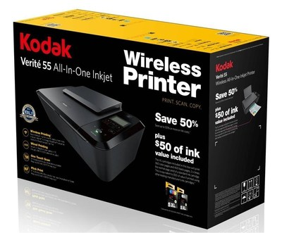 The KODAK VERITE 55 is a now available at WalMart.  Save up to 50% on ink and get extra large (XL) color and black cartridges in the box.
