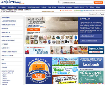 Csn stores hits 7 year sales high at midpoint of 2010 for Online home goods store