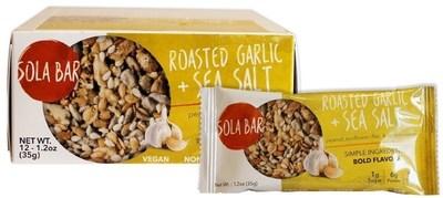 SOLA BAR Savory Wholesome Meal Bar - Roasted Garlic & Sea Salt