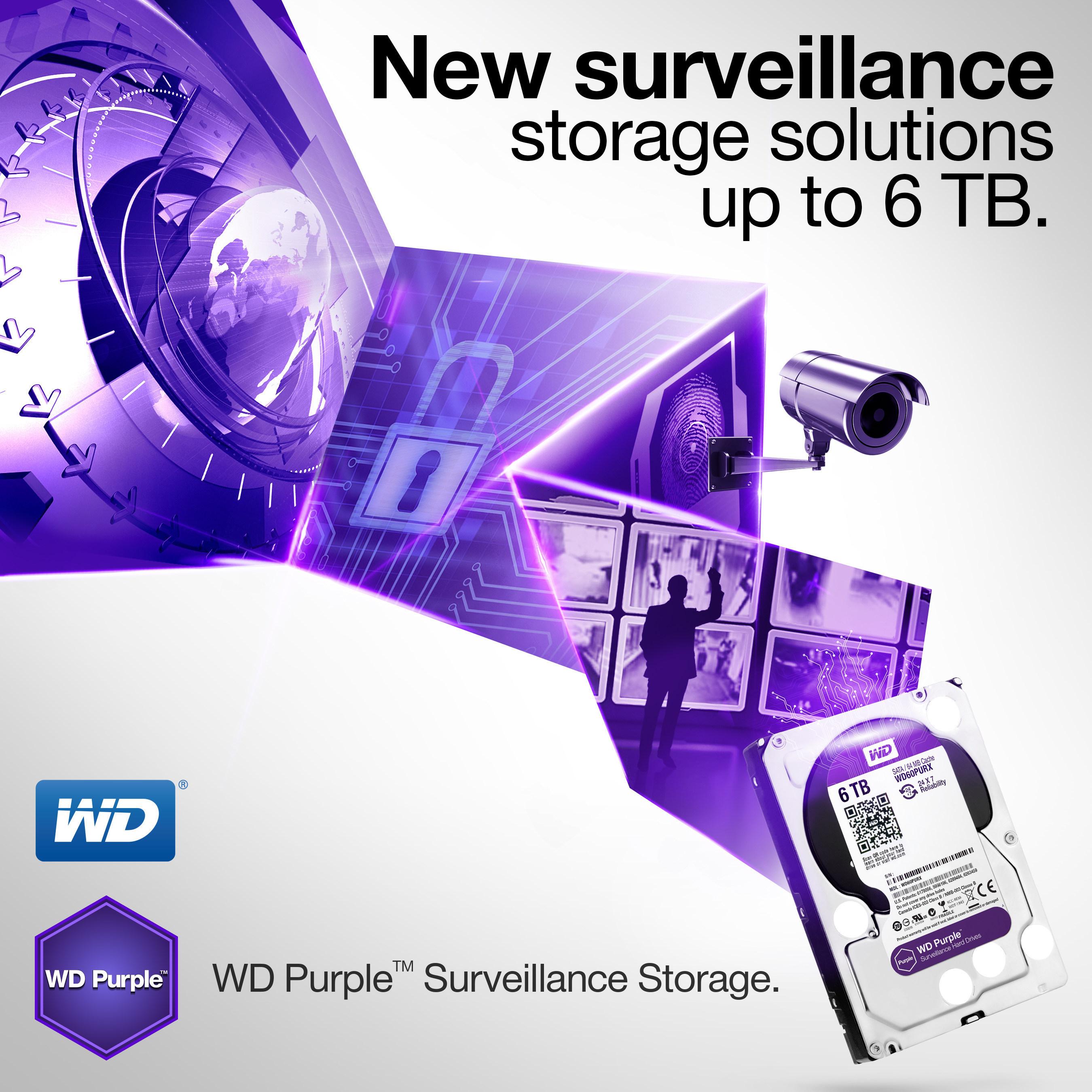 WD® Expands Surveillance-Class Hard Drive Line