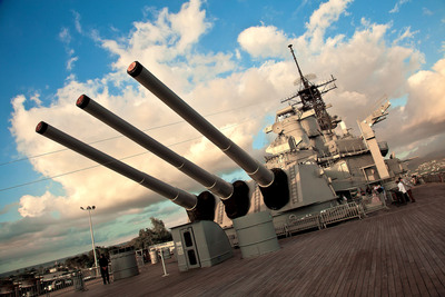 The U.S.S. Missouri battleship (photo courtesy of Paragon Pixels).  (PRNewsFoto/Crystal Cruises)
