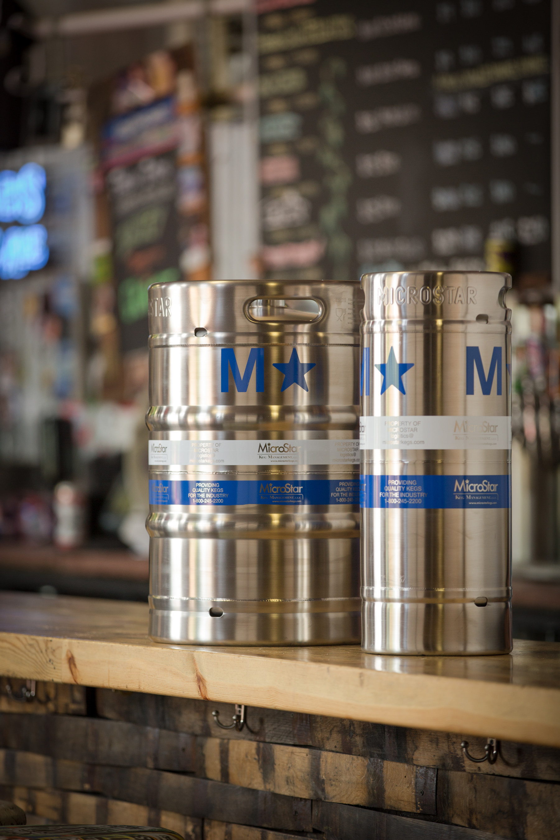MicroStar Kegs in Oskar Blues Tap Room