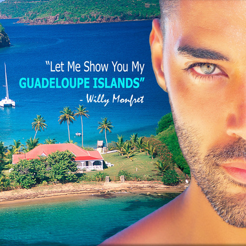 Guadeloupe Islands campaign featuring supermodel Willy Monfret.  (PRNewsFoto/Guadeloupe Islands Tourist Board)