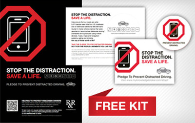Stop The Distraction Campaign Kit.  (PRNewsFoto/R&R Insurance Services Inc)
