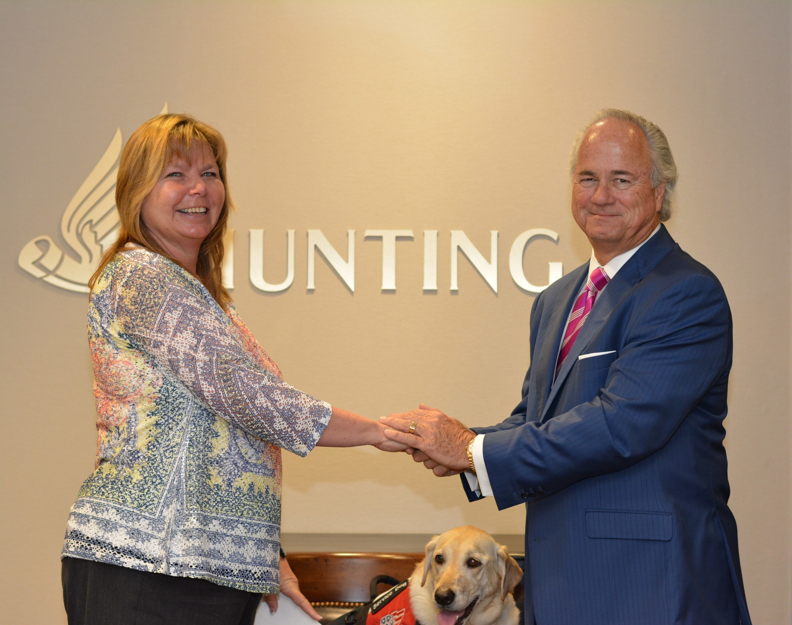 Hunting PLC Donates $150,000 To Patriot Paws Service Dogs