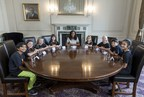 Stagecoach's 'Junior Cabinet' meeting delivers firm views on education, sugar tax, and the arts all hosted by TV Presenter Angellica Bell. (PRNewsFoto/Stagecoach)