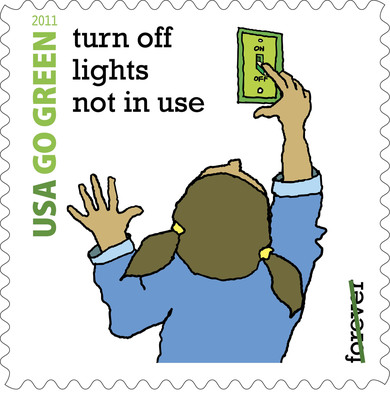 U.S. Postal Service Observes National Energy Action Month. Energy Use Reduced by 25 Percent.  (PRNewsFoto/U.S. Postal Service)