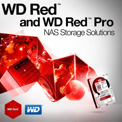 WD Red and WD Red Pro NAS Storage Solutions (PRNewsFoto/WD)