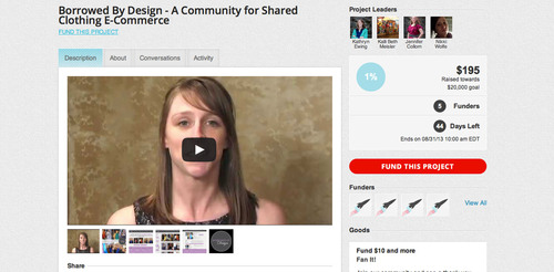 Borrowed By Design launches crowdfunding campaign to raise $20,000 through Rockethub.  (PRNewsFoto/Borrowed By Design)