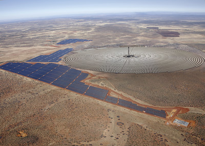 Redstone Solar Thermal Power Project - Northern Cape, South Africa (Rendering) (PRNewsFoto/SolarReserve)