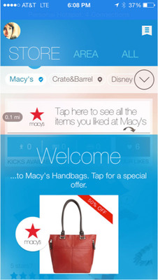 shopkick Debuts shopBeacon(TM): Macy's Flagships on the East and West Coasts to be the First Stores to Deploy Enhanced iBeacon/BLE Mobile Technology.  (PRNewsFoto/shopkick, Inc.)