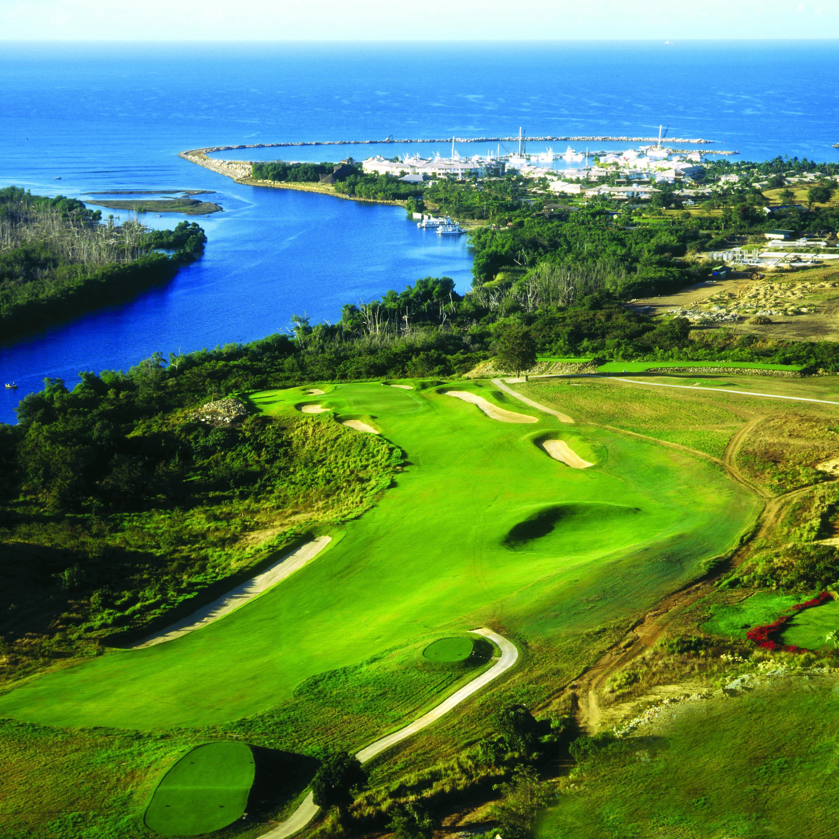 Dominican Republic's Dye Fore golf course in La Romana, home of the 2015 DR Golf Travel Exchange tournament.