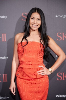 International Singer-Songwriter, Anggun attends the SK-II #changedestiny Forum in L.A. to discuss the great moment of change in her life